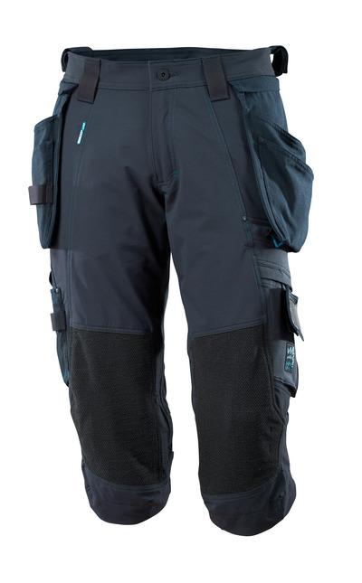 MASCOT® ADVANCED - mörk marin - Knickers med Dyneema®-knäfickor och avtagbara hängfickor, fyrvägs-stretch, låg vikt