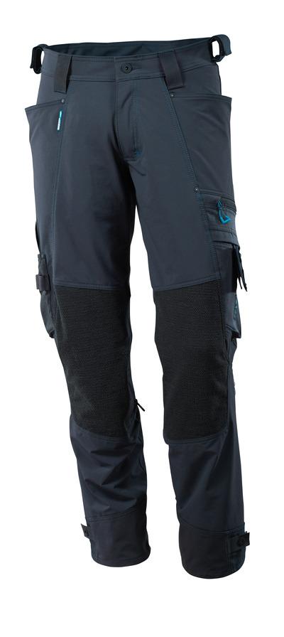 MASCOT® ADVANCED - mörk marin - Byxor med Dyneema®-knäfickor, fyrvägs-stretch, låg vikt