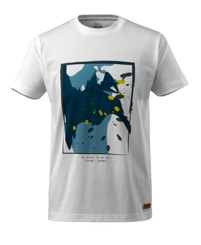 MASCOT® ADVANCED - vit - T-shirt med surfing motiv, modern passform