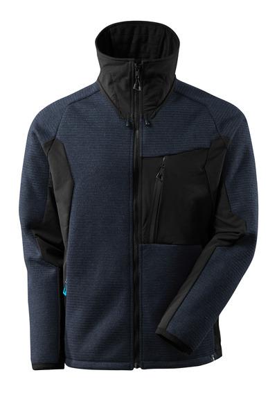 MASCOT® ADVANCED - mörk marin/svart - Stickad jacka med membran