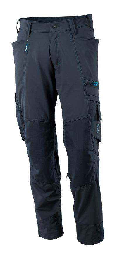 MASCOT® ADVANCED - mörk marin - Byxor med CORDURA®-knäfickor, fyrvägs-stretch, låg vikt
