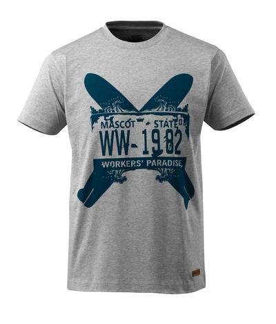 MASCOT® ADVANCED - grå-melerat - T-shirt med två surfboards, modern passform