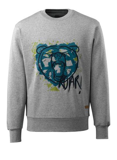 MASCOT® ADVANCED - grå-melerat - Sweatshirt med björn huvud, modern passform