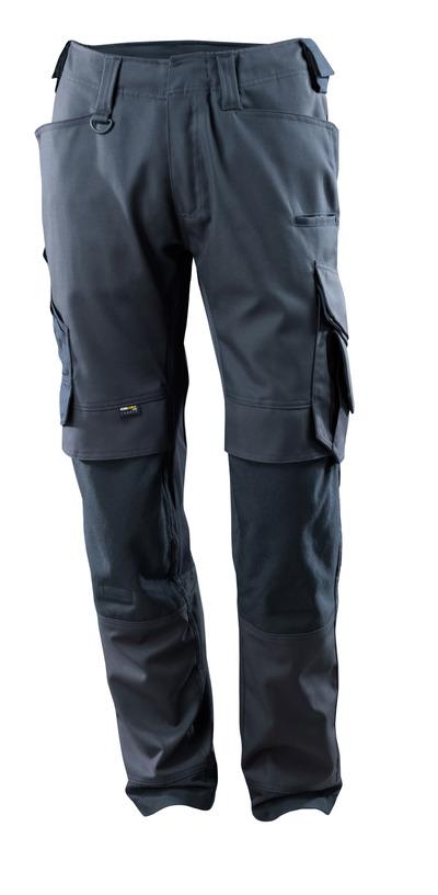MASCOT® Adra - mörk marin - Byxor med CORDURA®-knäfickor, stretchpaneler, hög slitstyrka