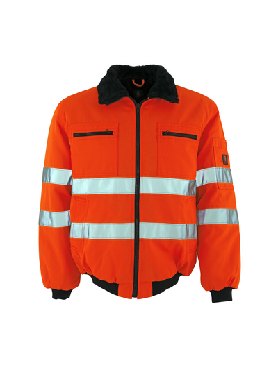 MASCOT® Alaska - hi-vis orange - Pilotjacka med pälsfoder, vattenavvisande, klass 3