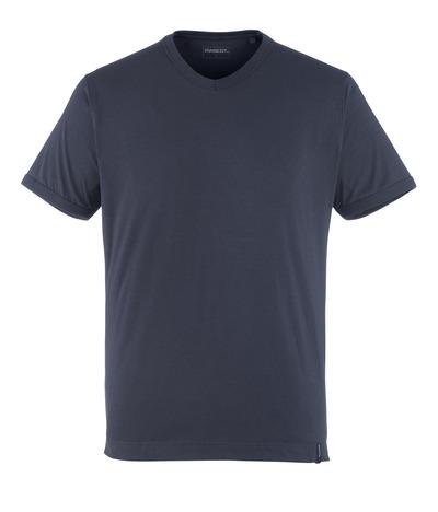 MASCOT® Algoso - mörk marin - T-shirt, liten V-hals, modern passform