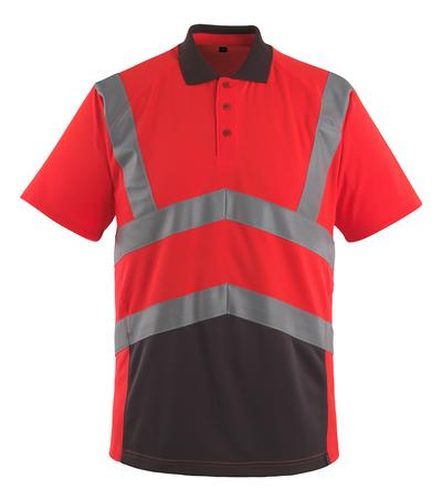 MASCOT® Anadia - hi-vis röd/mörk antracit - Pikétröja, modern passform, klass 2