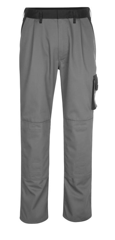 MASCOT® Ancona - antracit/svart - Byxor med knäfickor, låg vikt