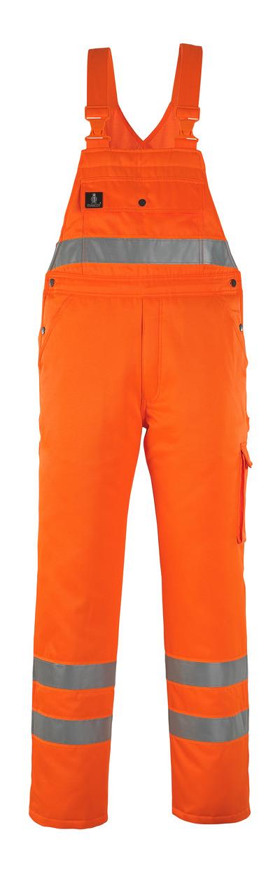 MASCOT® Antarktis - hi-vis orange* - Vintersnickarbyxor med kviltfoder, vattenavvisande, klass 2/2