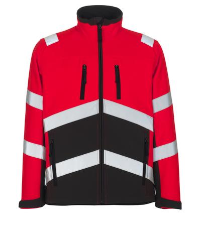 MASCOT® Antas - hi-vis röd/mörk antracit - Softshelljacka, vattenavvisande, fleece på insidan, klass 2