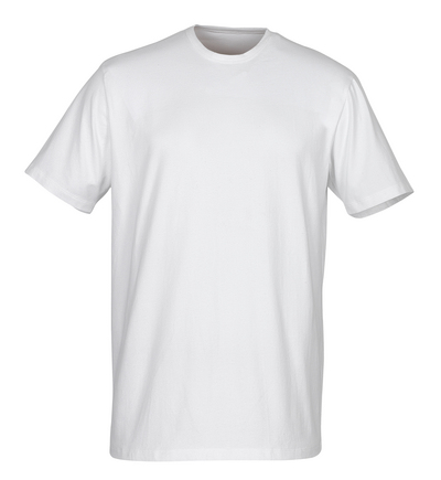 MASCOT® Argana - vit - Undertröja med liten V-hals och korta ärmar, modern passform