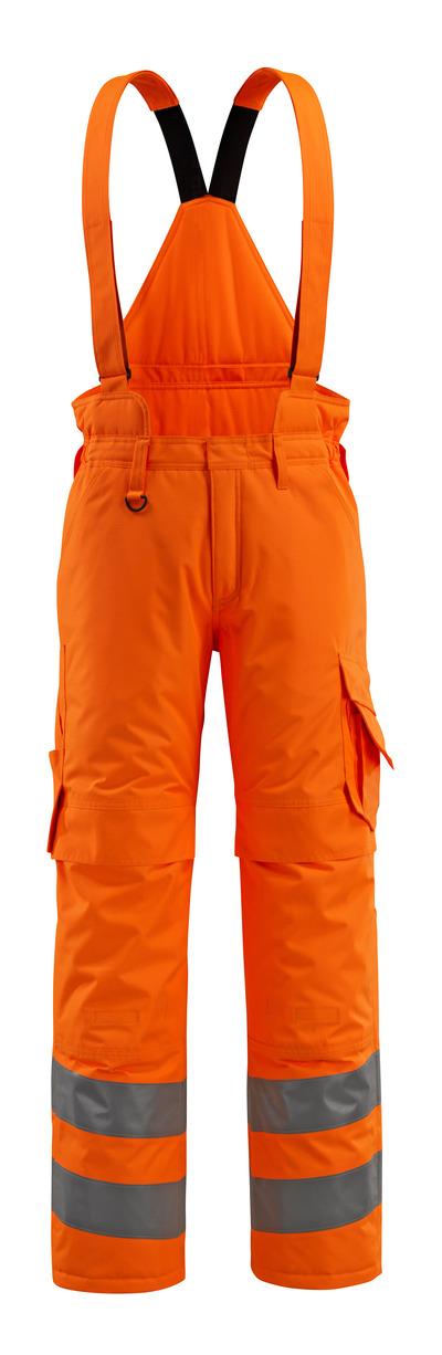 MASCOT® Ashford - hi-vis orange - Vinterbyxor med kviltfoder och avtagbara selar, vattentätt