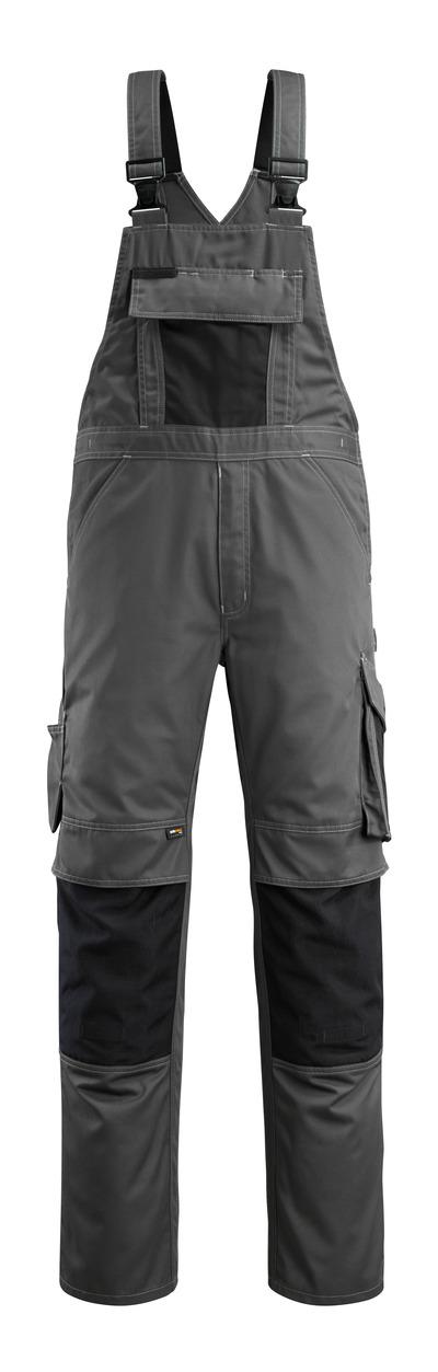 MASCOT® Augsburg - mörk antracit/svart - Snickarbyxor med knäfickor, låg vikt