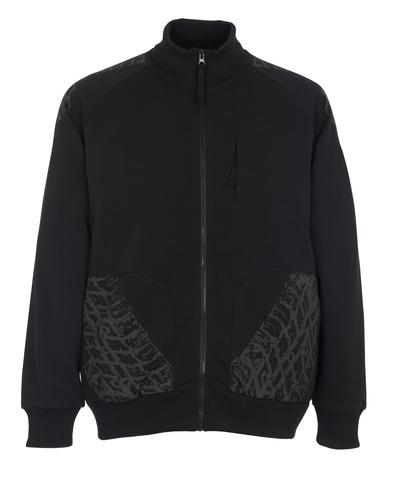 MASCOT® Belfort - svart* - Sweatshirt med blixtlås