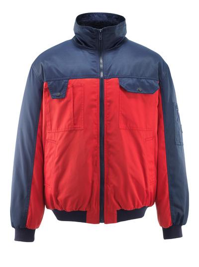 MASCOT® Bolzano - röd/marin - Pilotjacka med fiberpälsfoder, vattenavvisande Bearnylon®