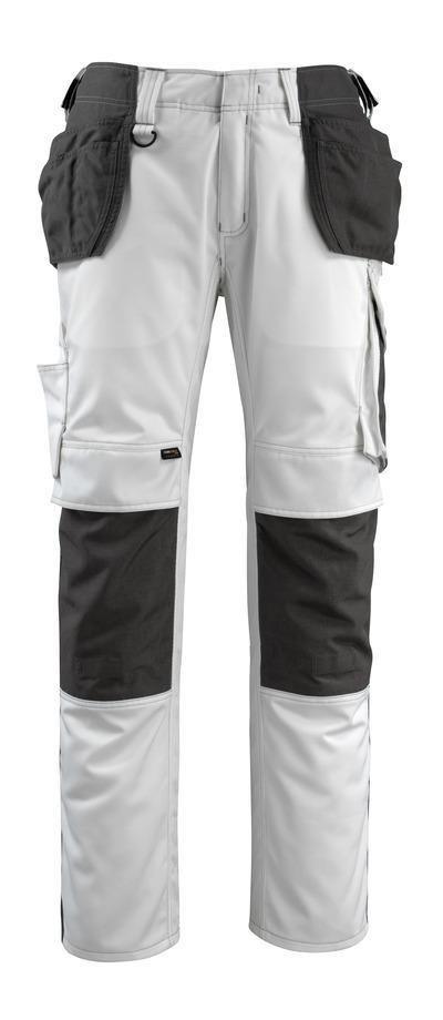 MASCOT® Bremen - vit/mörk antracit - Byxor med CORDURA®-knä- och hängfickor, hög slitstyrka