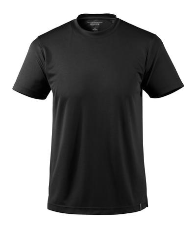 MASCOT® CROSSOVER - svart - T-shirt, fukttransporterande CoolDry, modern passform