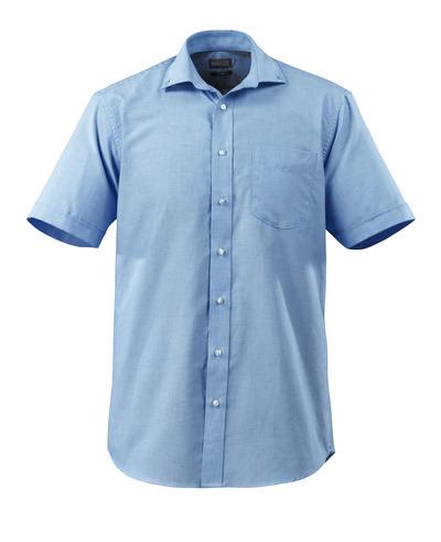 MASCOT® CROSSOVER - ljus-blå - Skjorta Oxford, klassisk passform, korta ärmar.