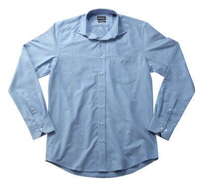 MASCOT® CROSSOVER - ljus-blå - Skjorta Oxford, Modern passform, långa ärmar.