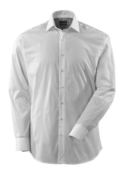 MASCOT® CROSSOVER - vit - Skjorta, poplin, klassisk passform