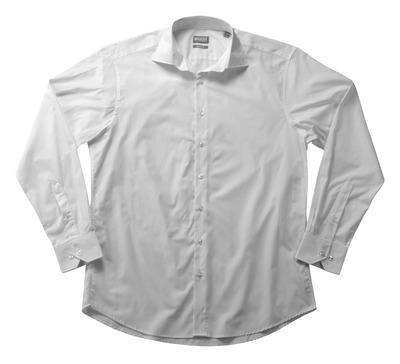 MASCOT® CROSSOVER - vit - Skjorta poplin, klassisk passform, långa ärmar.