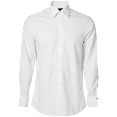 MASCOT® CROSSOVER - vit - Skjorta, poplin, modern passform