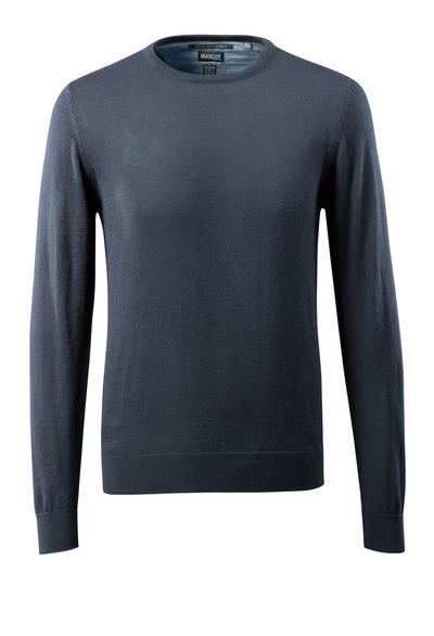 MASCOT® CROSSOVER - mörk marin - Stickad tröja rund hals, med merinoull.