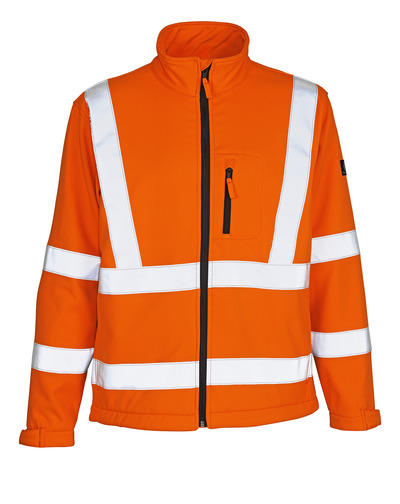 MASCOT® Calgary - hi-vis orange - Softshelljacka med fleece på insidan, kl. 3