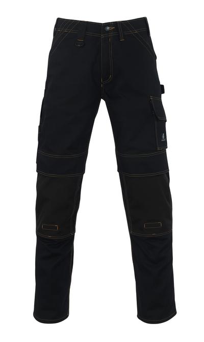 MASCOT® Calvos - svart - Byxor med CORDURA®-knäfickor, hög slitstyrka
