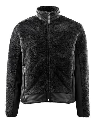 MASCOT® Campbell - svart* - Stickad jacka med blixtlås