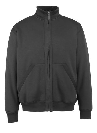 MASCOT® Cannes - svart* - Sweatshirt med blixtlås