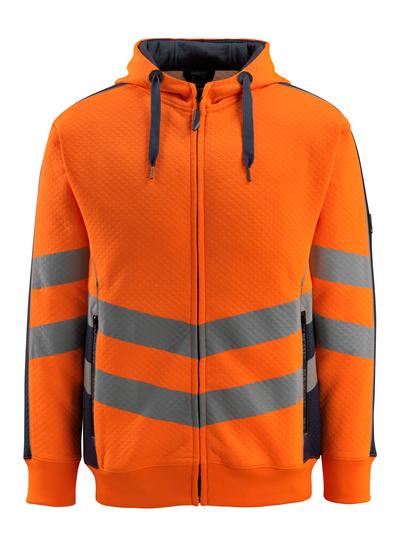 MASCOT® Corby - hi-vis orange/mörk marin - Huvtröja, våfflad yttersida, modern passform