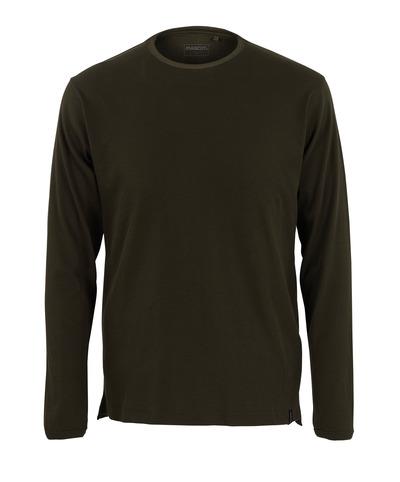 MASCOT® Crato - mörk oliv* - T-shirt, långärmad