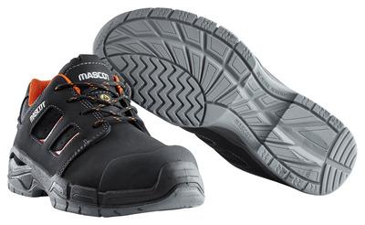 MASCOT® Diran - svart/mörk orange - Skyddsskor S3 med snörning