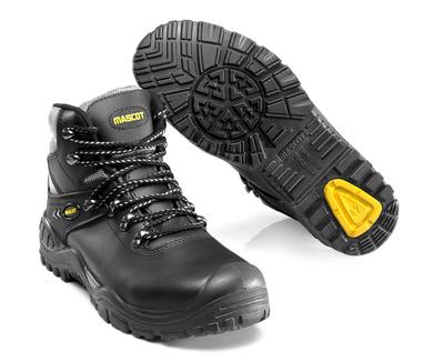 MASCOT® Elbrus - svart/gul - Skyddskängor S3 med snörning