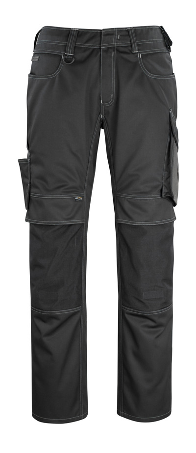 MASCOT® Erlangen - svart/mörk antracit - Byxor med CORDURA®-knäfickor, hög slitstyrka