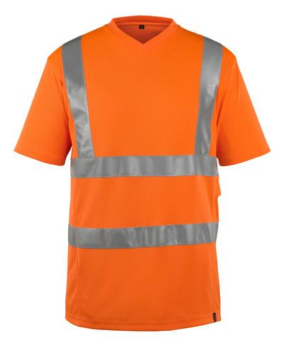 MASCOT® Espinosa - hi-vis orange - T-shirt, V-hals, modern passform, klass 2