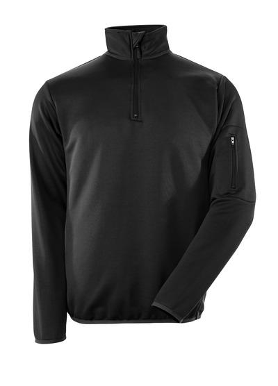 MASCOT® Estela - svart/mörk antracit - Pikésweatshirt med blixtlås modern passform, fukttransporterande
