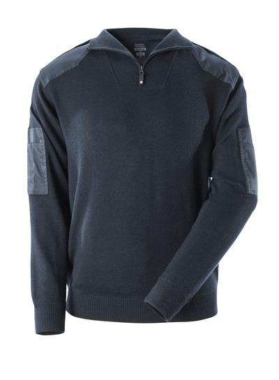 MASCOT® FRONTLINE - mörk marin - Stickad tröja med förstärkningar, med ull.