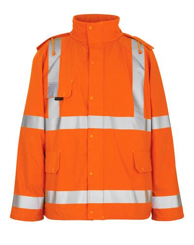 MASCOT® Feldbach - hi-vis orange - Regnjacka, vindtät och vattentät, klass 3