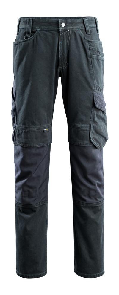 MASCOT® Ferrol - mörk blå denim - Jeans med knäfickor, extra hög slitstyrka