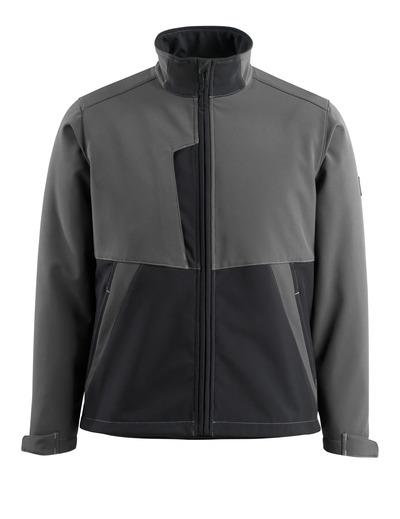 MASCOT® Finley - mörk antracit/svart - Softshelljacka med fleece på insidan