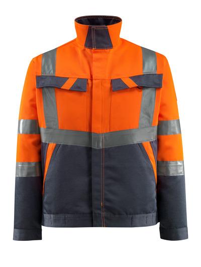 MASCOT® Forster - hi-vis orange/mörk marin - Jacka, låg vikt, klass 2