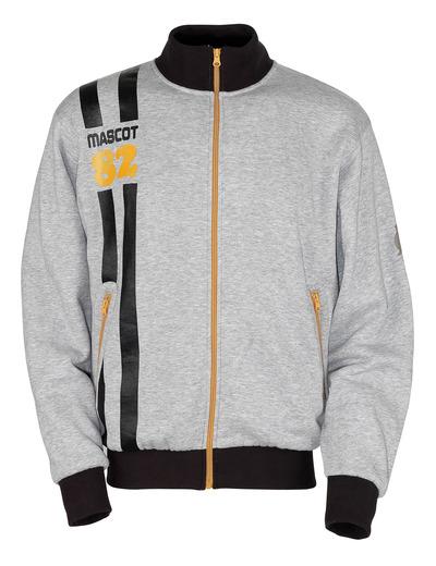 MASCOT® Fundao - grå-melerat* - Sweatshirt med blixtlås