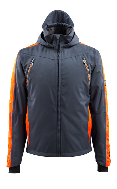 MASCOT® Gandia - mörk marin/hi-vis orange - Skaljacka med hi-viskontrast, vattentätt