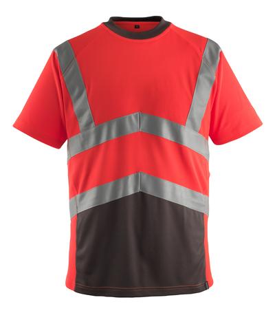 MASCOT® Gandra - hi-vis röd/mörk antracit* - T-shirt, modern passform, klass 2