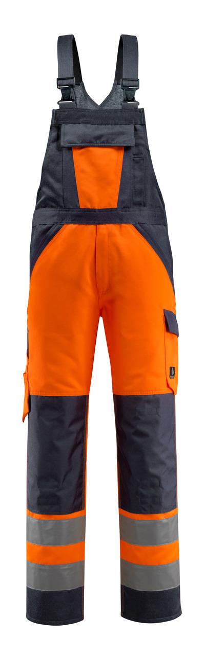 MASCOT® Gosford - hi-vis orange/mörk marin - Snickarbyxor med knäfickor, klass 2