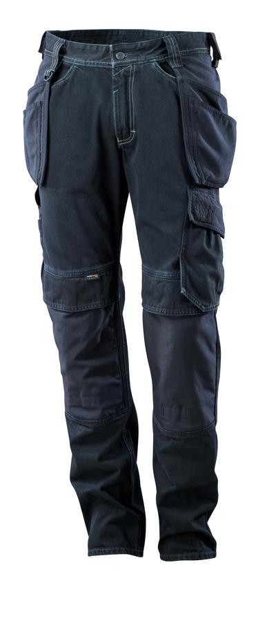 MASCOT® HARDWEAR - mörk blå denim - Jeans med hängfickor, extra slitstark.