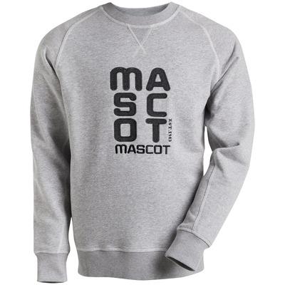 MASCOT® HARDWEAR - grå-melerat - Sweatshirt med broderad MASCOT, modern passform