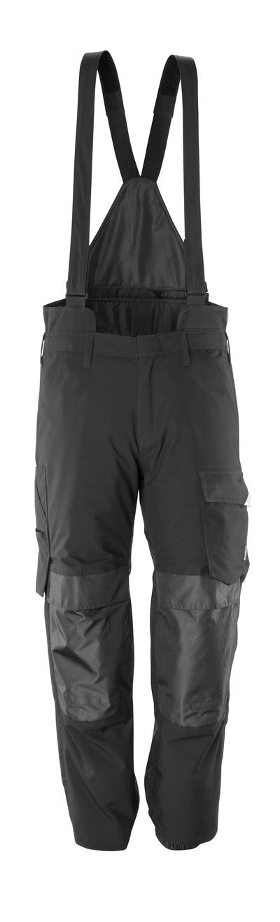 MASCOT® HARDWEAR - svart - Överdragsbyxor med knäfickor, vindtät och vattentät